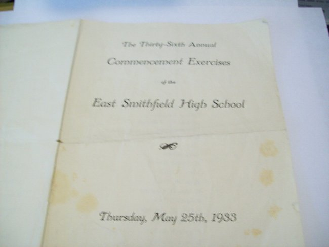 Robert C. Fraley High School Commencement Exercise program