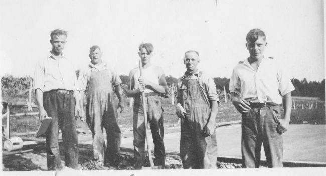 Harry Fraley and sons George, Glenn and Robert - 1932
