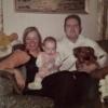 Ann, Tom and first child Christine.