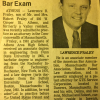Newspaper (Sayre PA paper) Announcing My Passing MA bar.