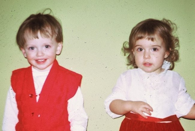chrissy and robert as babies