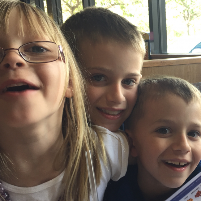 NJ Grandkids at iHop 4-17