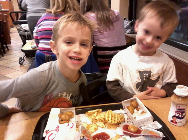 Robbie and Ryan at Chik-fil-a