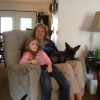 Ann Weaver with granddaughter Gabrielle Weaver. Dog is Ann's Bear.
