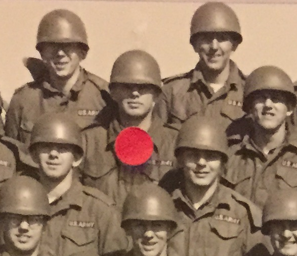 Enlarged view of Lawrence in his basic training photo.