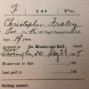 Christopher Fraley Muster Out form